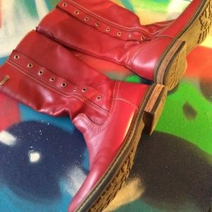 Colombian Red Leather Boots